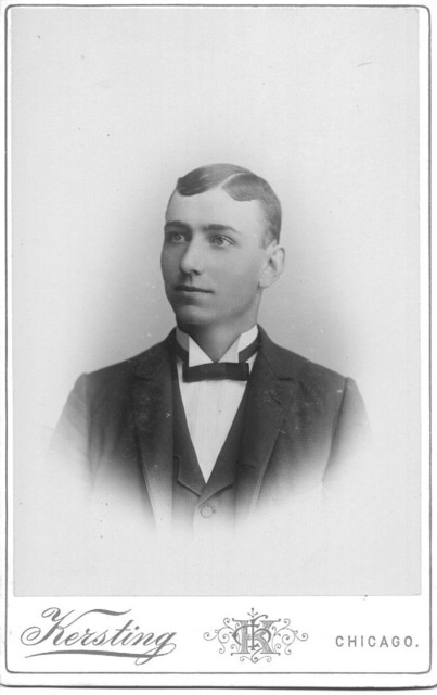 Albert Dunteman (1874-1949) as a young man, possibly his confirmation, most likely in the late 1880s.