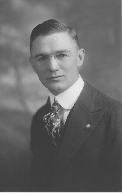 Harry G. Duntemann (1892-1956) in 1916 at the First National Bank of Chicago, where he worked all his adult life.
