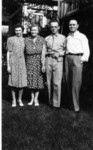 Harry G. Duntemann with his wife Sade Prendergast Duntemann and children Kathleen and Frank in 1942