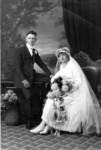 Harry G. Duntemann and Sade Prendergast Duntemann at their wedding (1919)