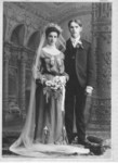 Henry Dunteman (1881-1962) and Ida Freundt Dunteman (1884-1942) at their wedding in 1904