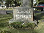 Headstone of Frank W. Duntemann (1867-1936) and Martha Winkelmann Duntemann (1871-1967) at Maine Township Cemetery, Des Plaines IL.