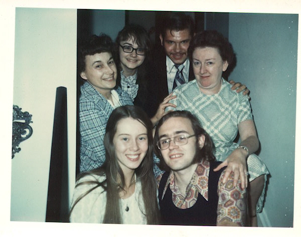 1974: With Jeff's family