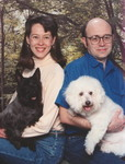 1996: Posing with Chewy and Max