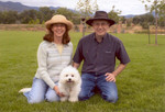 June 2005: With QBit at a park in Colorado Springs. QBit was six months old at the time