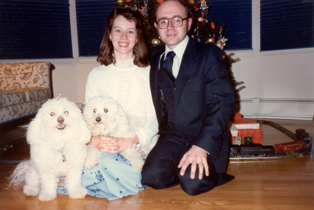 December 1986: With Mr. Byte and Chewy