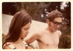 June 1970: On the beach at Jeff's family's summer place on Third Lake, Illinois