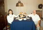 November 1995: Thanksgiving. Also, the only known photograph of me drinking white wine.
