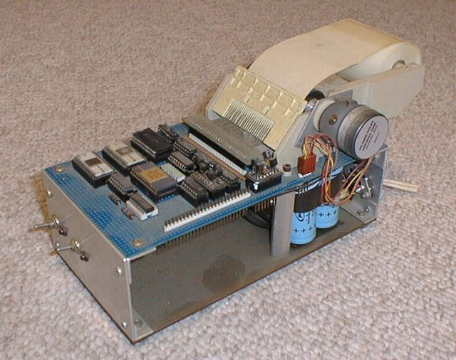 1979: The COSMAC IMP (Inexpensive Matrix Printer.) I designed and built a simple thermal printer for the COSMAC ELF computer, using all COSMAC parts and a little OEM printhead from TI. I offered the circuit as a project article to Popular Electronics (which had published the ELF in 1976) but PE said the Elf's time had passed.