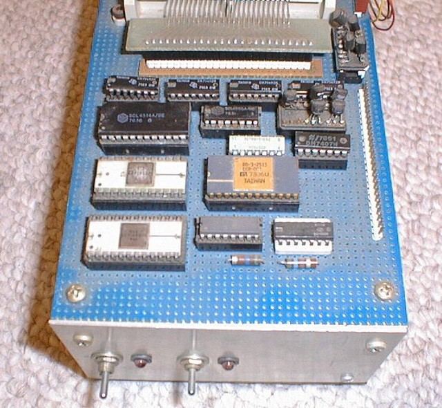 1979: A top view of the IMP's circuitry.