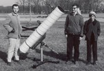 1970: My 8: vent-pipe scope at a partial solar eclipse near Chicago. The scope itself dates back to 1968.