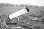 5/67: The square scope got a lot of use at my folks' summer place at Third Lake, IL. Not being able to rotate the tube made it difficult to observe certain parts of the sky.